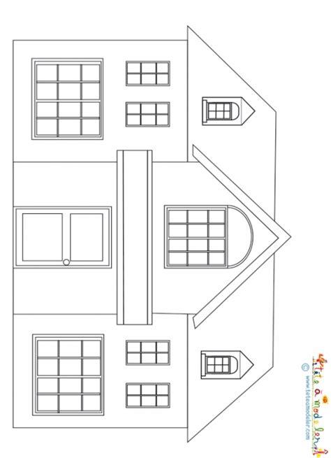 dessin d une maison 224 imprimer t 234 te 224 modeler