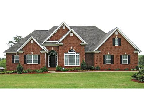 traditional brick ranch hwbdo63914 new american from
