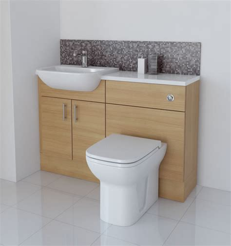 Bathcabz Bathroom Fitted Furniture Products Fitted Light Oak Bathroom Furniture