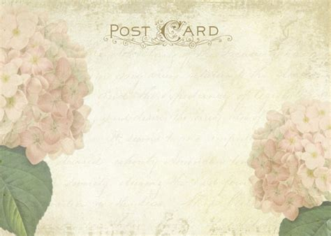 printable vintage postcard shabby hydrangea wedding