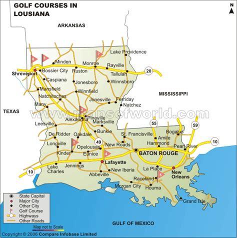 louisiana golf map map louisiana golf courses