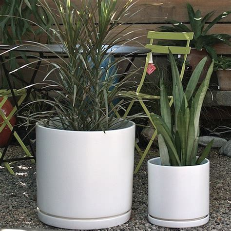 modern planters and pots gainey cylinder ceramic pots modern indoor pots and