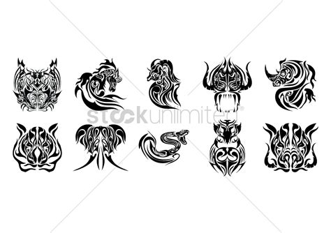 tattoo animal vector collection of animal tattoo design vector image 1433398