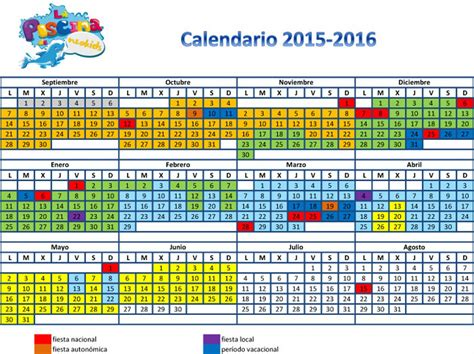 calendario escolar de la rioja 2015 2016 para imprimir calendario de la temporada 20152016 calendario de per 237