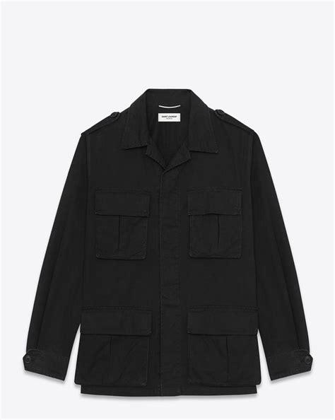 Jaket Parka Twill Polka Hoodie laurent classic parka black streetwear