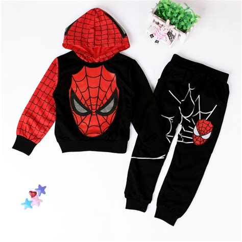 Set Polo Spider Kid children boys sport suit 2 6 years clothing set spider baby boys clothes set