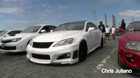 stanced lexus isf lexus is f slammed import alliance canibeat youtube