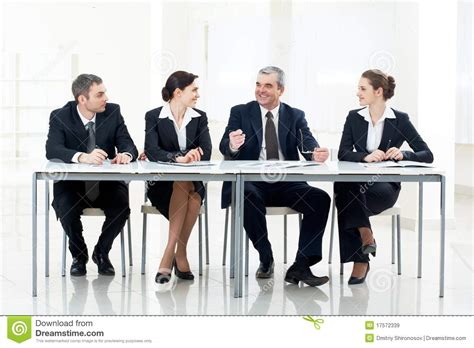at the table at the table stock image image of businessman
