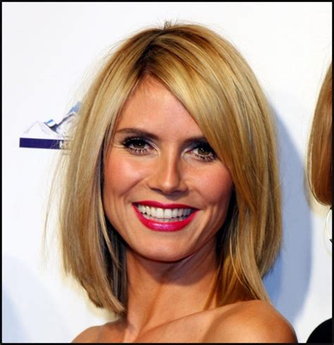 new years eve hairstyles for thin hair heidi klum medium hairstyle the fashion tag blog