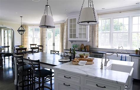 Dining Room Tables Island Ny Kitchen Island Dining Table Transitional Kitchen