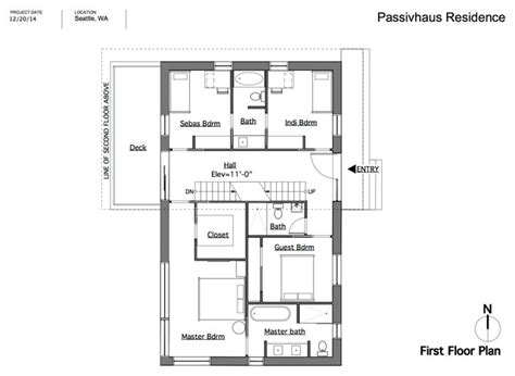 passive house floor plans passive house seattle floor plan