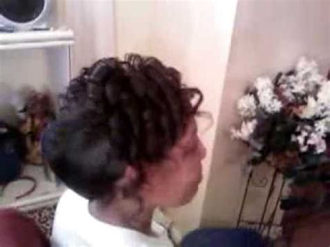 hair style with fench roll and pin curls french roll with curls youtube