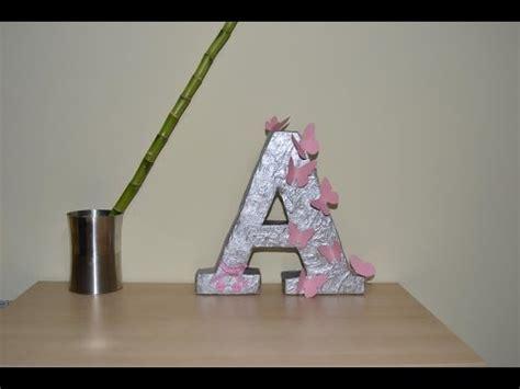 como hacer una letra de carton  decorar facilisimo