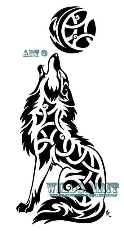 tribal coyote tattoos tribal outline coyote design by emberthedragoness
