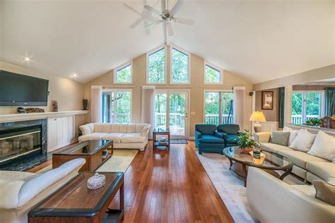 vaulted ceiling open floor plans vaulted ceilings highlight this open floor plan of the
