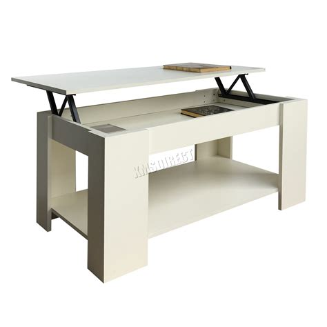 foxhunter lift up top coffee table mdf with storage and