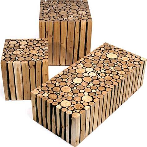 Creative Custom Log Craft: Rustic Modern Wood Furniture