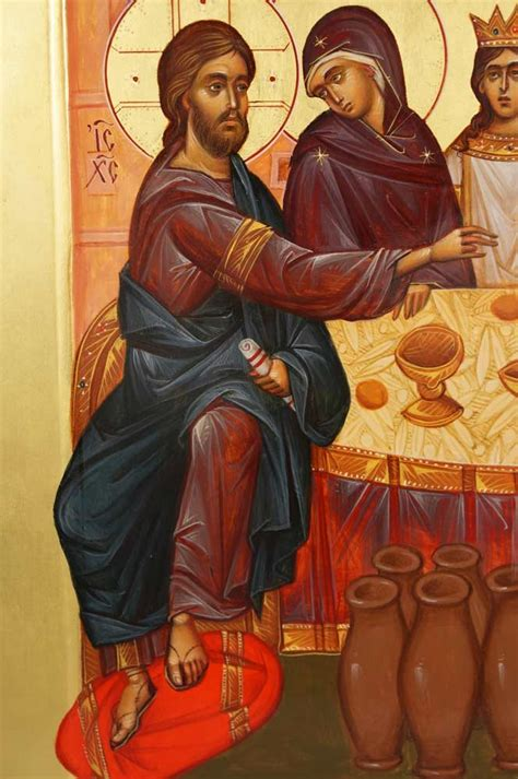 Wedding At Cana Orthodox Icon by The Wedding At Cana Painted Icon Blessedmart