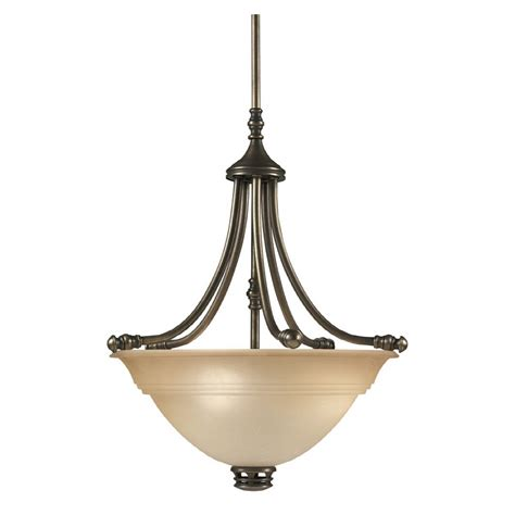 Portfolio Pendant Lighting Shop Portfolio Libbe 17 7 In W Antique Brass Pendant Light With Frosted Glass Shade At Lowes