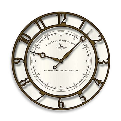 bed bath beyond clocks firstime 174 park hill wall clock bed bath beyond