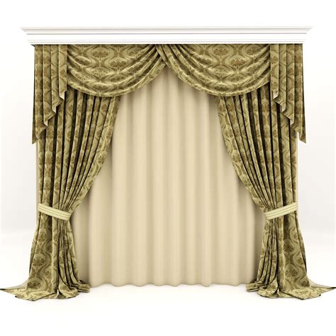 3d curtains curtains classic 3d model max fbx cgtrader com