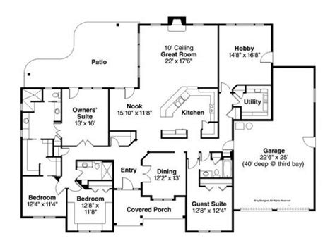 floor plan for a 940 sq ft ranch style home floor plans for 3000 sq ft homes inspirational ranch house plan with 3000 square and 4
