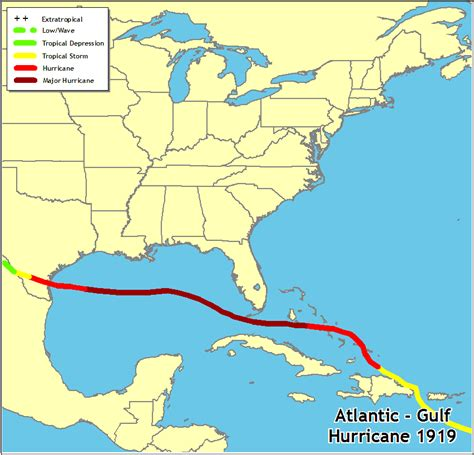 us hurricane history map hurricanes in history