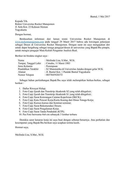 Download Contoh Surat Lamaran Kerja yang Baik dan Benar