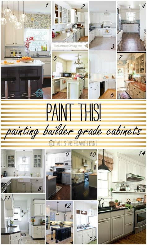Paint Grade Kitchen Cabinets by Paint This Builder Grade Cabinets It All Started With Paint