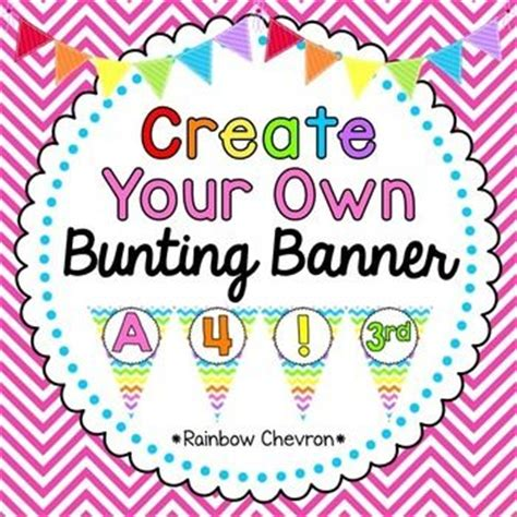 free printable alphabet banner for classroom create your own custom classroom bunting pennant with this