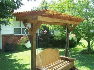 Swing Pergola Plans by Mobile Pergola Swing Holder By Greg Lumberjocks Com