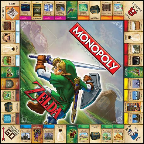 legend of zelda monopoly map eb games exclusively selling the zelda monopoly board in