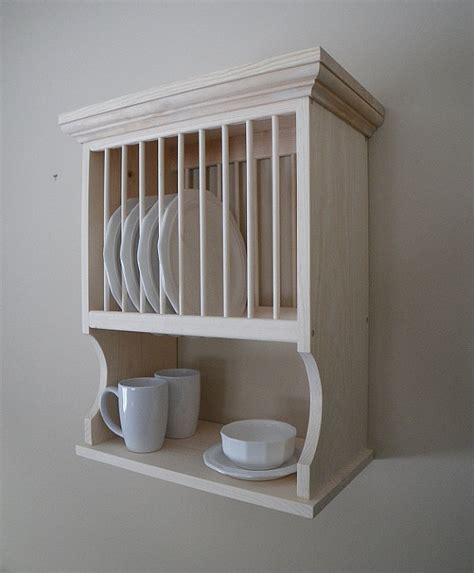 How To Make A Wooden Plate Rack by Wall Mounted 10 Plate Rack By Nicoletwoodproducts On Etsy