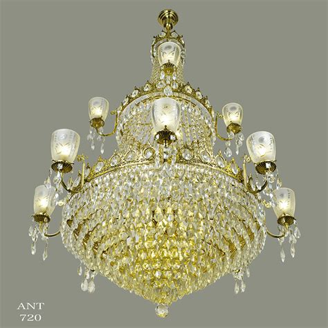 Ballroom Chandeliers Large Chandelier Grand Ballroom Ceiling Light Fixture Ant 720 For Sale