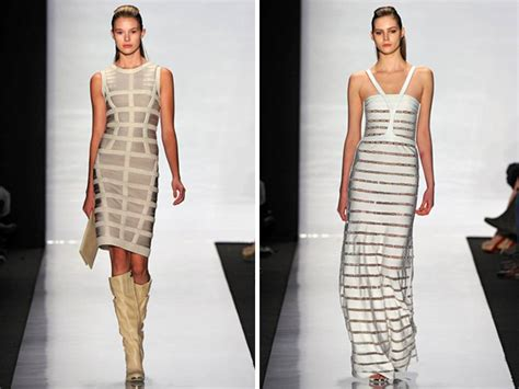 Herve Leger And To Make A New York Fashion Week Return by White Ivory And Metallic Herve Leger Fall 2011 Bandage