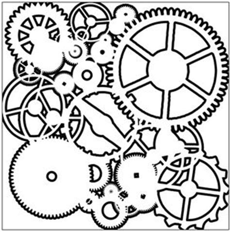 printable gear stencils 10 off pg 4 shapes winter holiday crafters workshop