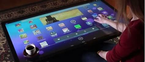 android table android powered multitouch coffee table is one tablet for your living room