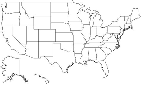 Us States Blank Map by Geography Blog Printable United States Maps