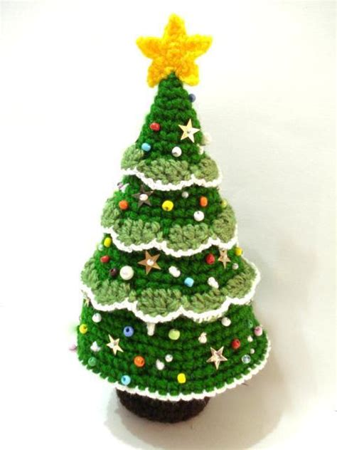 crochet christmas tree by allsocute crocheting pattern