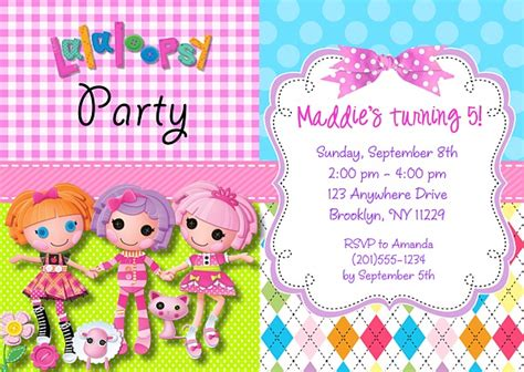 lalaloopsy birthday invitations party invitations ideas lalaloopsy birthday party invitations lalaloopsy kids