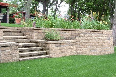 Pros Matching Capstone Over Brick Steps And Wall Cons Backyard Retaining Wall Ideas
