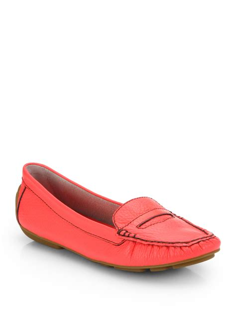 kate spade loafers kate spade driver loafers in geranium lyst