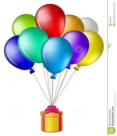 imagenes de regalo con globos deamor globos con un rect 225 ngulo de regalo ilustraci 243 n del vector