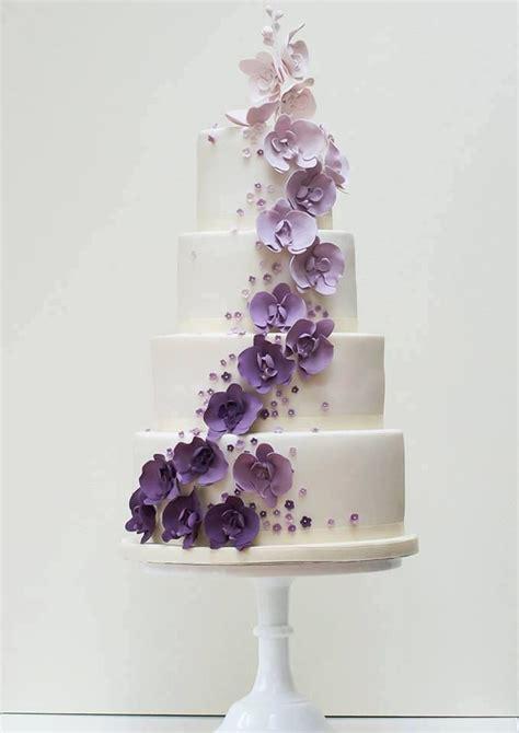 Hochzeitstorte Lila Blumen by Pretty In Purple Wedding Cake Wedding Cakes Desserts