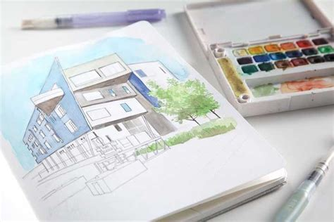 watercolor tutorial architecture bright lights big city inspiration urban sketching tutorial