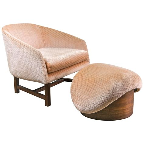 modern ottoman furniture mid century modern reading chair and ottoman at 1stdibs