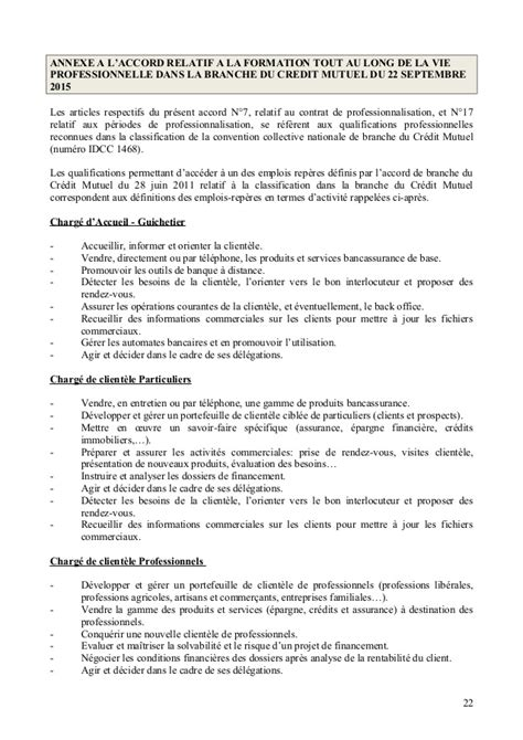 Credit Formation 2015 Idcc 1468 Accord Formation Professionnelle Du 22 Septembre 2015