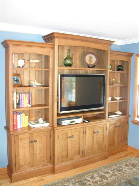 entertainment center with lights custom made white oak entertainment center by norman