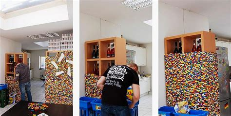 lego room dividers npire studio uses 55 000 legos to create a funky pixilated