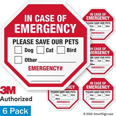 Pet Emergency Sticker